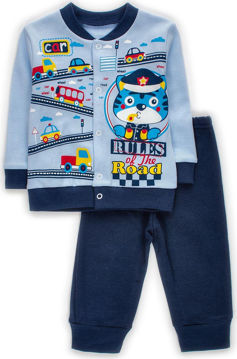 Комплект одежды детский M&D: штанишки, кофточка, цвет: голубой. КМ140906_10. Размер 86 комплекты детской одежды lp collection комплект штанишки кофточка боди 14 2746