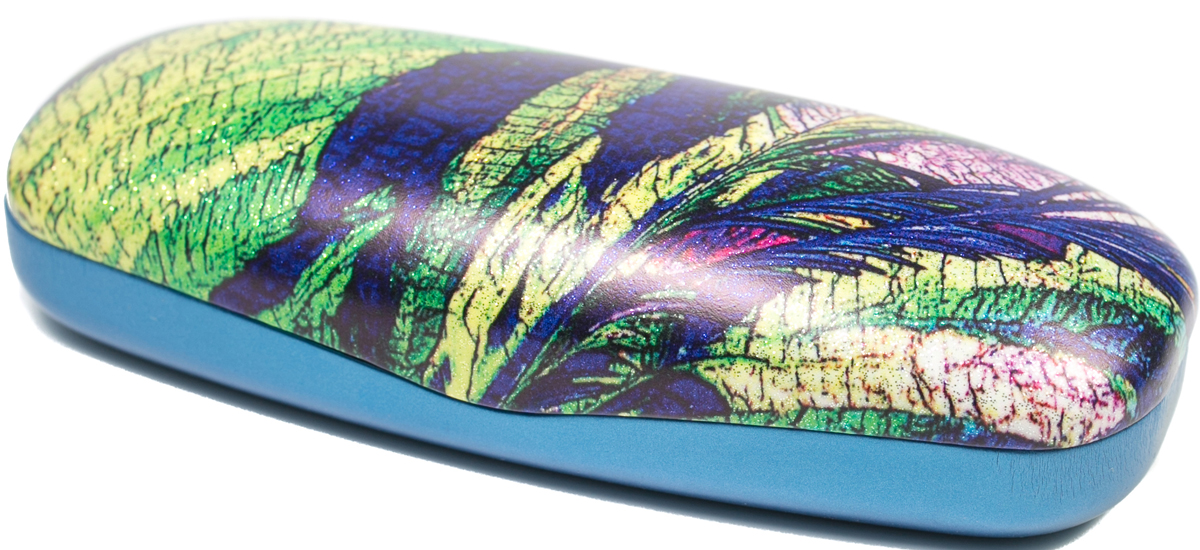Футляр для очков женский Mitya Veselkov, цвет: синий, зеленый. DS-2039.2col.1 футляр для очков для мальчика mitya veselkov цвет зеленый a 243 2col 9