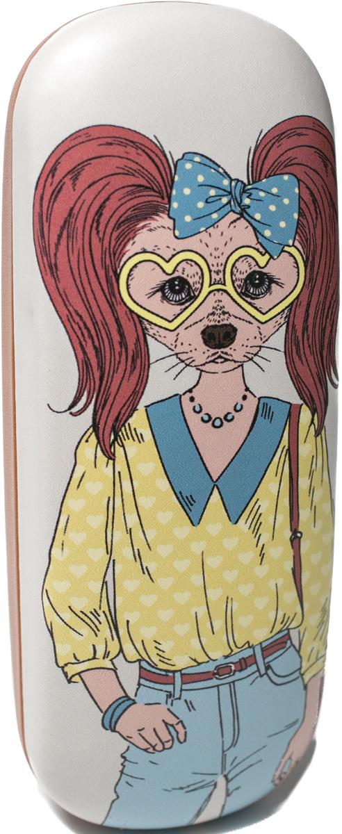 Футляр для очков женский Mitya Veselkov, цвет: коричневый, голубой, желтый. DS-31.1col.8 цепочки для очков germes цепочка металлическая для очков g 8