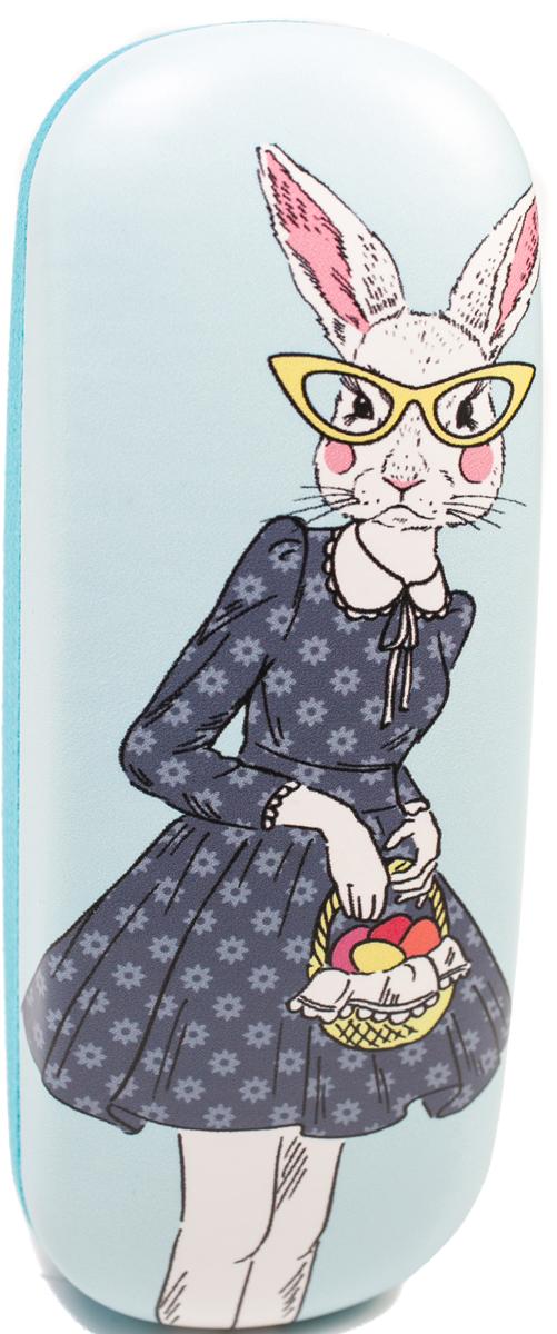 Футляр для очков женский Mitya Veselkov, цвет: голубой. DS-311col.5 proffi home футляр для очков fabia monti овальный цвет голубой