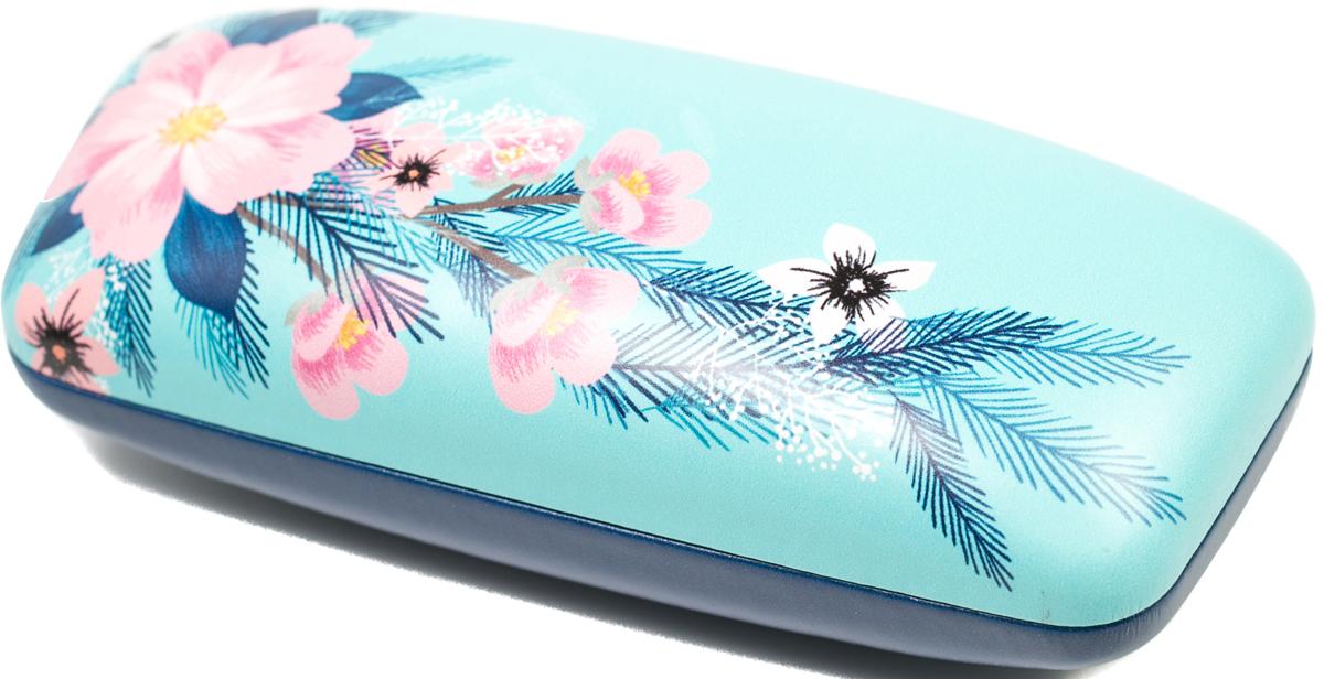 Футляр для очков женский Mitya Veselkov, цвет: голубой, розовый. DS-90.1col.1 proffi home футляр для очков fabia monti овальный цвет голубой