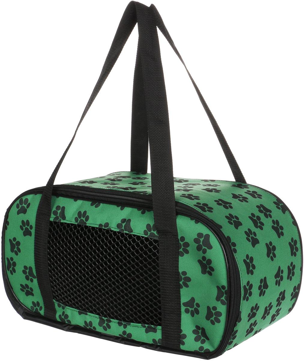 ТЕРЕМОК Сумка-переноска овальная малая, цвет: зеленый - Переноски, товары для транспортировки
