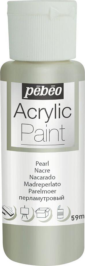 Pebeo Краска акриловая Acrylic Paint перламутровая цвет 097869 под жемчуг 59 мл
