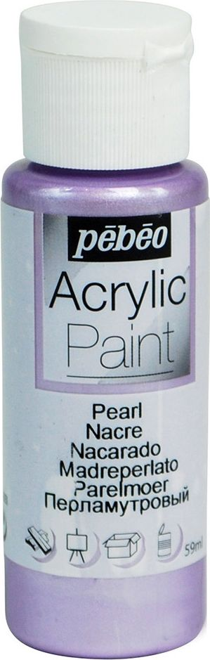 Pebeo Краска акриловая Acrylic Paint перламутровая цвет 097870 парма 59 мл