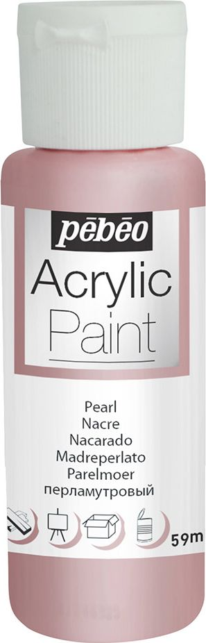 Pebeo Краска акриловая Acrylic Paint перламутровая цвет 097871 розовый 59 мл
