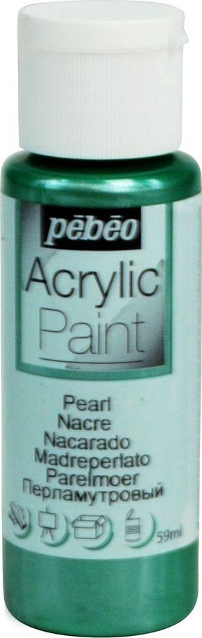 Pebeo Краска акриловая Acrylic Paint перламутровая цвет 097877 зеленый 59 мл