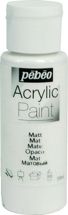 Pebeo Краска акриловая Acrylic Paint матовая цвет 097801 белый 59 мл