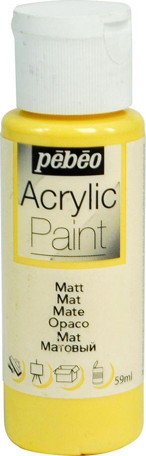 Pebeo Краска акриловая Acrylic Paint матовая цвет 097803 манго 59 мл097803Жидкая акриловая краска Pebeo предназначена для декорирования. Высоко пигментированная, покрывная и перманентная. Краски смешиваются друг с другом. Водостойкие после высыхания. Обладают высокой покрывной способностью. Разводятся водой. Поверхности: дерево, холст, картон, металл и другие.Финиш: матовый.