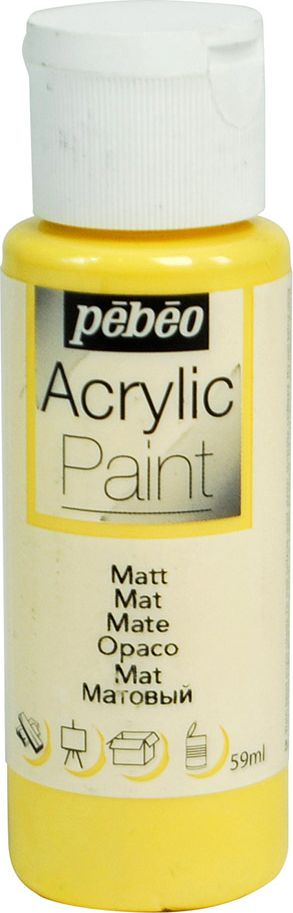 Pebeo Краска акриловая Acrylic Paint матовая цвет 097803 манго 59 мл краска акриловая folkart цвет лакричный 59 мл plaid 00938 pld