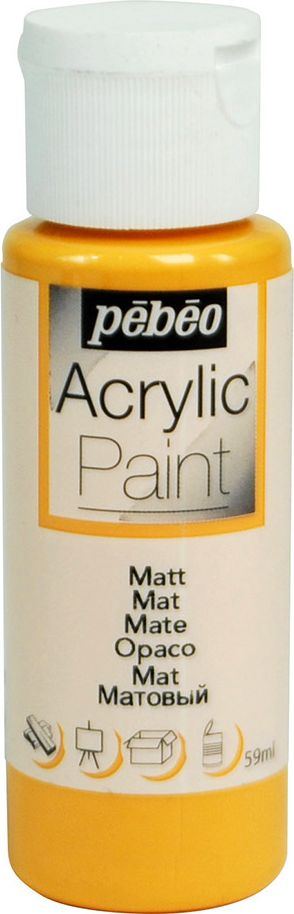 Pebeo Краска акриловая Acrylic Paint матовая цвет 097804 абрикос 59 мл краска акриловая folkart цвет лакричный 59 мл plaid 00938 pld
