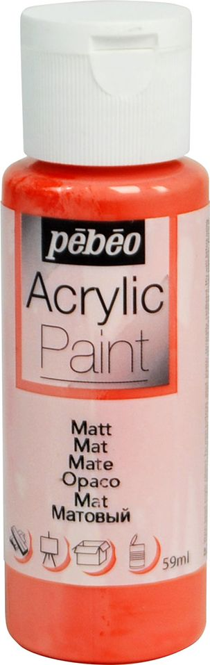 Pebeo Краска акриловая Acrylic Paint матовая цвет 097806 коралл 59 мл краска акриловая folkart цвет лакричный 59 мл plaid 00938 pld