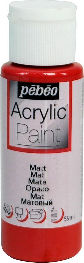 Pebeo Краска акриловая Acrylic Paint матовая цвет 097808 красный кирпич 59 мл - Краски