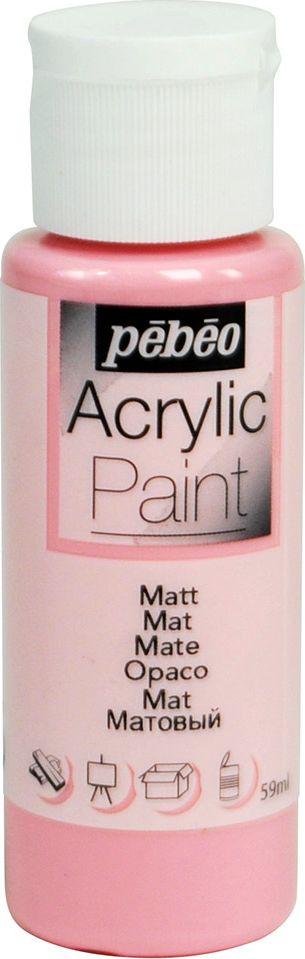 Pebeo Краска акриловая Acrylic Paint матовая цвет 097812 розовый 59 мл - Краски