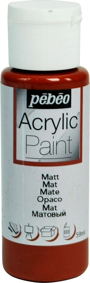 Pebeo Краска акриловая Acrylic Paint матовая цвет 097814 каштановый 59 мл - Краски