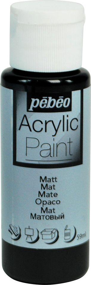 Pebeo Краска акриловая Acrylic Paint матовая цвет 097817 черный 59 мл - Краски
