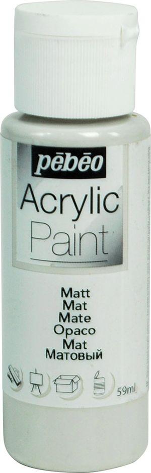 Pebeo Краска акриловая Acrylic Paint матовая цвет 097818 серый бетон 59 мл097818Жидкая акриловая краска для декорирования. Высоко пигментированная, покрывная и перманентная. Финиш: матовый. Поверхности: дерево, холст, картон, металл и т.д. Краски смешиваются друг с другом. Водостойкие после высыхания. Обладают высокой покрывной способностью. Разводятся водой.