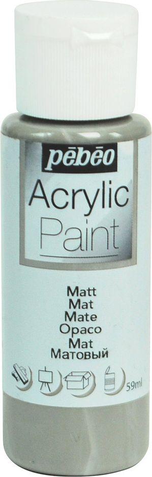 Pebeo Краска акриловая Acrylic Paint матовая цвет 097819 серая пудра 59 мл - Краски