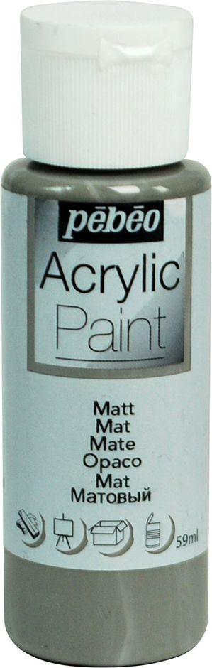 Pebeo Краска акриловая Acrylic Paint матовая цвет 097820 мышиный 59 мл - Краски