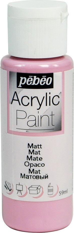 Pebeo Краска акриловая Acrylic Paint матовая цвет 097821 сиреневый 59 мл097821Жидкая акриловая краска для декорирования. Высоко пигментированная, покрывная и перманентная. Финиш: матовый. Поверхности: дерево, холст, картон, металл и т.д. Краски смешиваются друг с другом. Водостойкие после высыхания. Обладают высокой покрывной способностью. Разводятся водой.