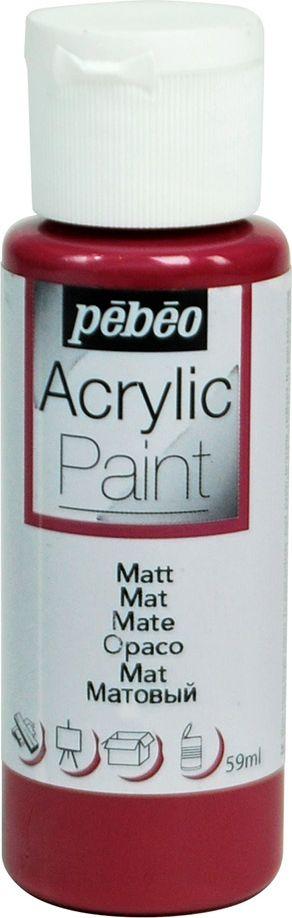 PebeoКраска акриловая Acrylic Paint матовая цвет 097822 сливовый 59 мл Pebeo