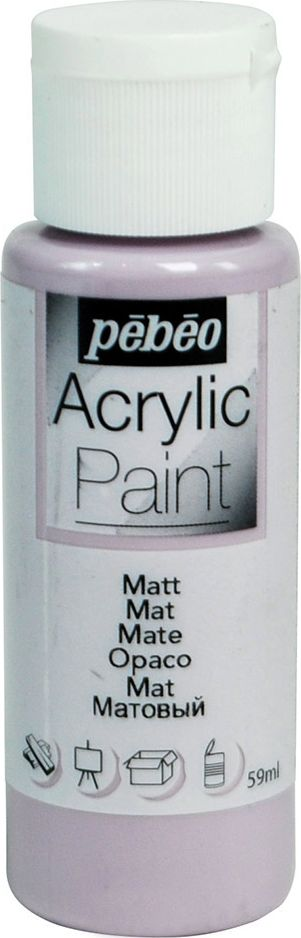 Pebeo Краска акриловая Acrylic Paint матовая цвет 097824 лаванда 59 мл