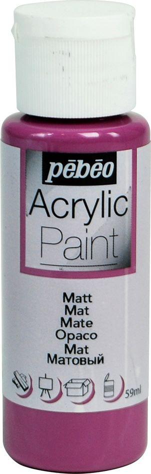 Pebeo Краска акриловая Acrylic Paint матовая цвет 097825 черная смородина 59 мл краска акриловая folkart цвет лакричный 59 мл plaid 00938 pld