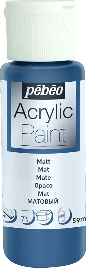 Pebeo Краска акриловая Acrylic Paint матовая цвет 097828 синий шторм 59 мл