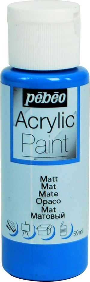 Pebeo Краска акриловая Acrylic Paint матовая цвет 097831 синий морской 59 мл097831Жидкая акриловая краска Pebeo предназначена для декорирования. Высоко пигментированная, покрывная и перманентная. Краски смешиваются друг с другом. Водостойкие после высыхания. Обладают высокой покрывной способностью. Разводятся водой. Поверхности: дерево, холст, картон, металл и другие.Финиш: матовый.