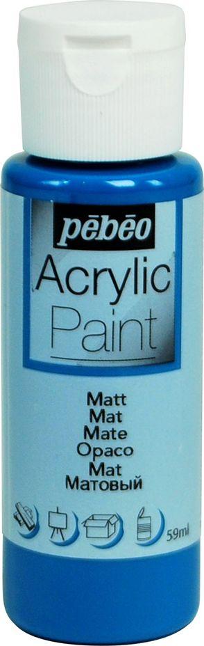 Pebeo Краска акриловая Acrylic Paint матовая цвет 097832 зеленовато-голубой 59 мл097832Жидкая акриловая краска Pebeo предназначена для декорирования. Высоко пигментированная, покрывная и перманентная. Краски смешиваются друг с другом. Водостойкие после высыхания. Обладают высокой покрывной способностью. Разводятся водой. Поверхности: дерево, холст, картон, металл и другие.Финиш: матовый.