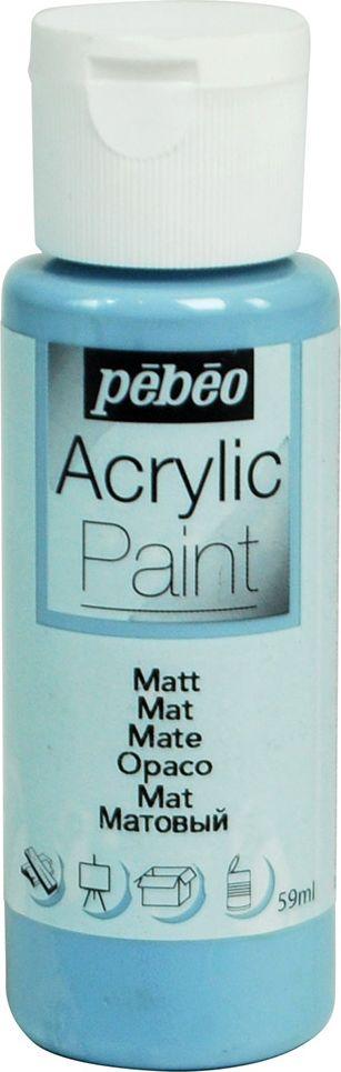 Pebeo Краска акриловая Acrylic Paint матовая цвет 097834 серо-синий 59 мл краска акриловая folkart цвет лакричный 59 мл plaid 00938 pld