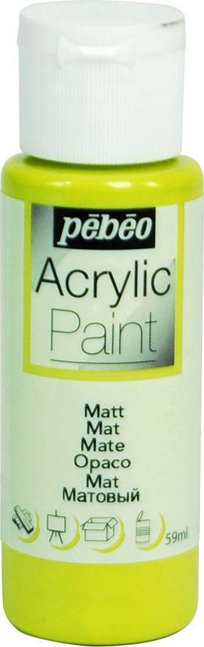 Pebeo Краска акриловая Acrylic Paint матовая цвет 097836 анисовый 59 мл097836Жидкая акриловая краска Pebeo предназначена для декорирования. Высоко пигментированная, покрывная и перманентная. Краски смешиваются друг с другом. Водостойкие после высыхания. Обладают высокой покрывной способностью. Разводятся водой. Поверхности: дерево, холст, картон, металл и другие.Финиш: матовый.