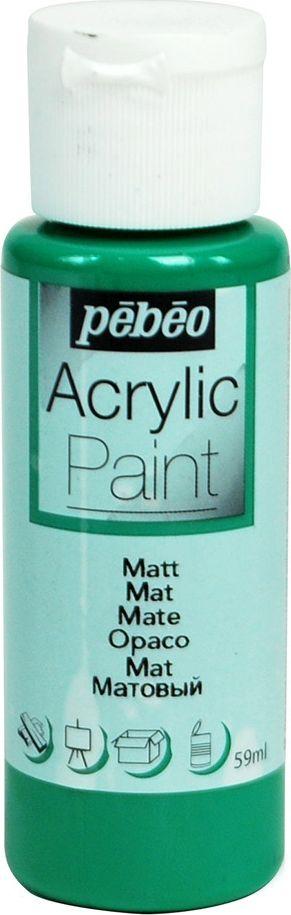 Pebeo Краска акриловая Acrylic Paint матовая цвет 097839 еловый 59 мл краска акриловая folkart цвет лакричный 59 мл plaid 00938 pld