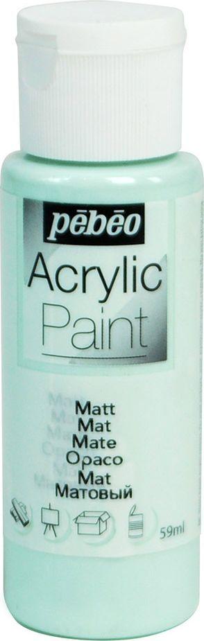PebeoКраска акриловая Acrylic Paint матовая цвет 097840 зеленый морской 59 мл Pebeo