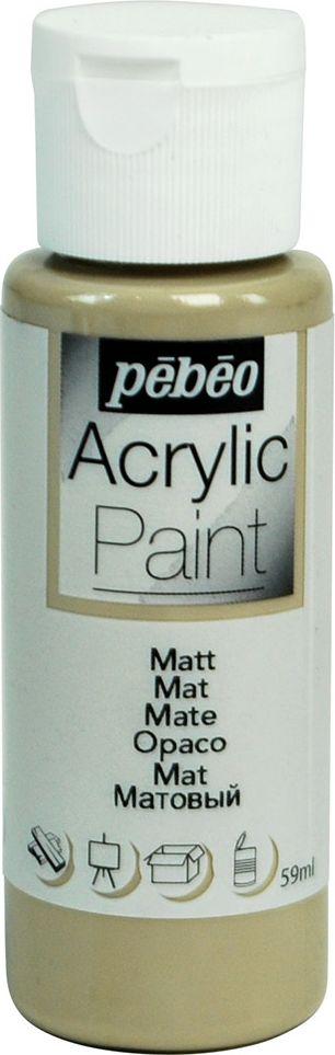 Pebeo Краска акриловая Acrylic Paint матовая цвет 097841 серо-коричневый 59 мл краска акриловая folkart цвет лакричный 59 мл plaid 00938 pld