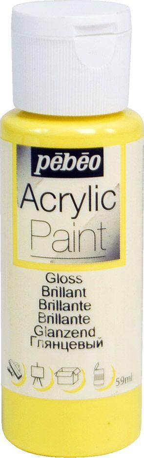 Pebeo Краска акриловая Acrylic Paint глянцевая цвет 097845 ярко-желтый 59 мл