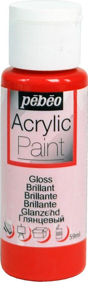 Pebeo Краска акриловая Acrylic Paint глянцевая цвет 097848 красный 59 мл