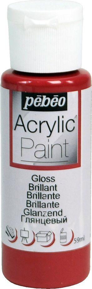 Pebeo Краска акриловая Acrylic Paint глянцевая цвет 097849 бордо 59 мл