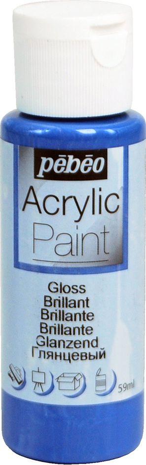 Pebeo Краска акриловая Acrylic Paint глянцевая цвет 097850 синий ультрамарин 59 мл097850Жидкая акриловая краска Pebeo предназначена для декорирования. Высоко пигментированная, покрывная и перманентная. Краски смешиваются друг с другом. Водостойкие после высыхания. Обладают высокой покрывной способностью. Разводятся водой.Поверхности: дерево, холст, картон, металл и другие. Финиш: глянцевый.