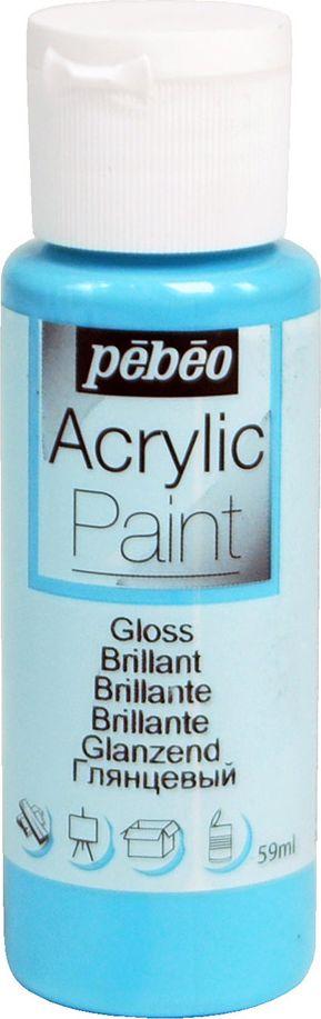 Pebeo Краска акриловая Acrylic Paint глянцевая цвет 097853 лазурный 59 мл097853Жидкая акриловая краска Pebeo предназначена для декорирования. Высоко пигментированная, покрывная и перманентная. Краски смешиваются друг с другом. Водостойкие после высыхания. Обладают высокой покрывной способностью. Разводятся водой. Поверхности: дерево, холст, картон, металл и другие.Финиш: глянцевый.