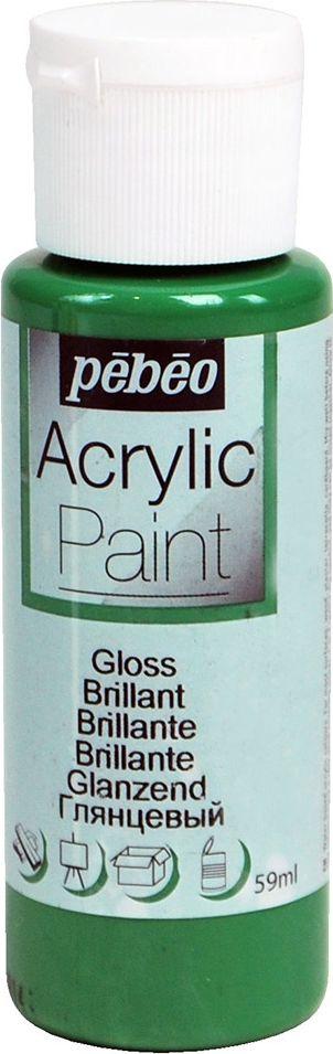 Pebeo Краска акриловая Acrylic Paint глянцевая цвет 097855 зеленый имперский 59 мл097855Жидкая акриловая краска Pebeo предназначена для декорирования. Высоко пигментированная, покрывная и перманентная. Краски смешиваются друг с другом. Водостойкие после высыхания. Обладают высокой покрывной способностью. Разводятся водой. Поверхности: дерево, холст, картон, металл и другие.Финиш: глянцевый.