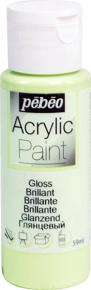 Pebeo Краска акриловая Acrylic Paint глянцевая цвет 097858 фисташковый 59 мл