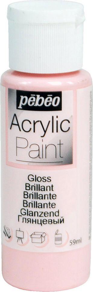 Pebeo Краска акриловая Acrylic Paint глянцевая цвет 097862 розовая карамель 59 мл097862Жидкая акриловая краска для декорирования. Высоко пигментированная, покрывная и перманентная. Финиш: глянцевый. Поверхности: дерево, холст, картон, металл и т.д. Краски смешиваются друг с другом. Водостойкие после высыхания. Обладают высокой покрывной способностью. Разводятся водой.