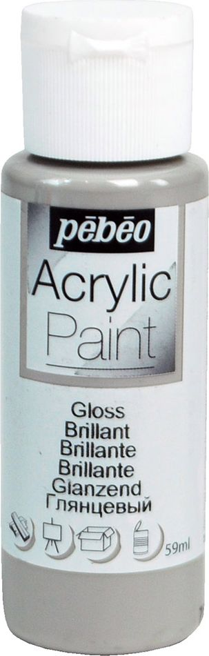 Pebeo Краска акриловая Acrylic Paint глянцевая цвет 097864 серая сталь 59 мл краска акриловая folkart цвет лакричный 59 мл plaid 00938 pld