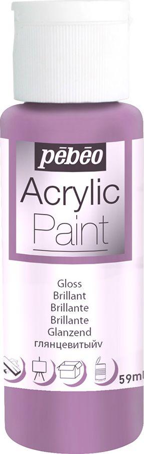 Pebeo Краска акриловая Acrylic Paint глянцевая цвет 097865 пурпурный 59 мл097865Жидкая акриловая краска для декорирования. Высоко пигментированная, покрывная и перманентная. Финиш: глянцевый. Поверхности: дерево, холст, картон, металл и т.д. Краски смешиваются друг с другом. Водостойкие после высыхания. Обладают высокой покрывной способностью. Разводятся водой.