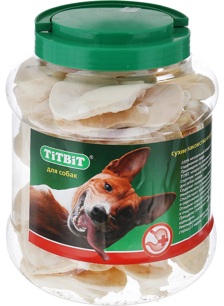 """Лакомство для собак """"Titbit"""", пятачок диетический из говяжьей кожи, 4,3 л"""