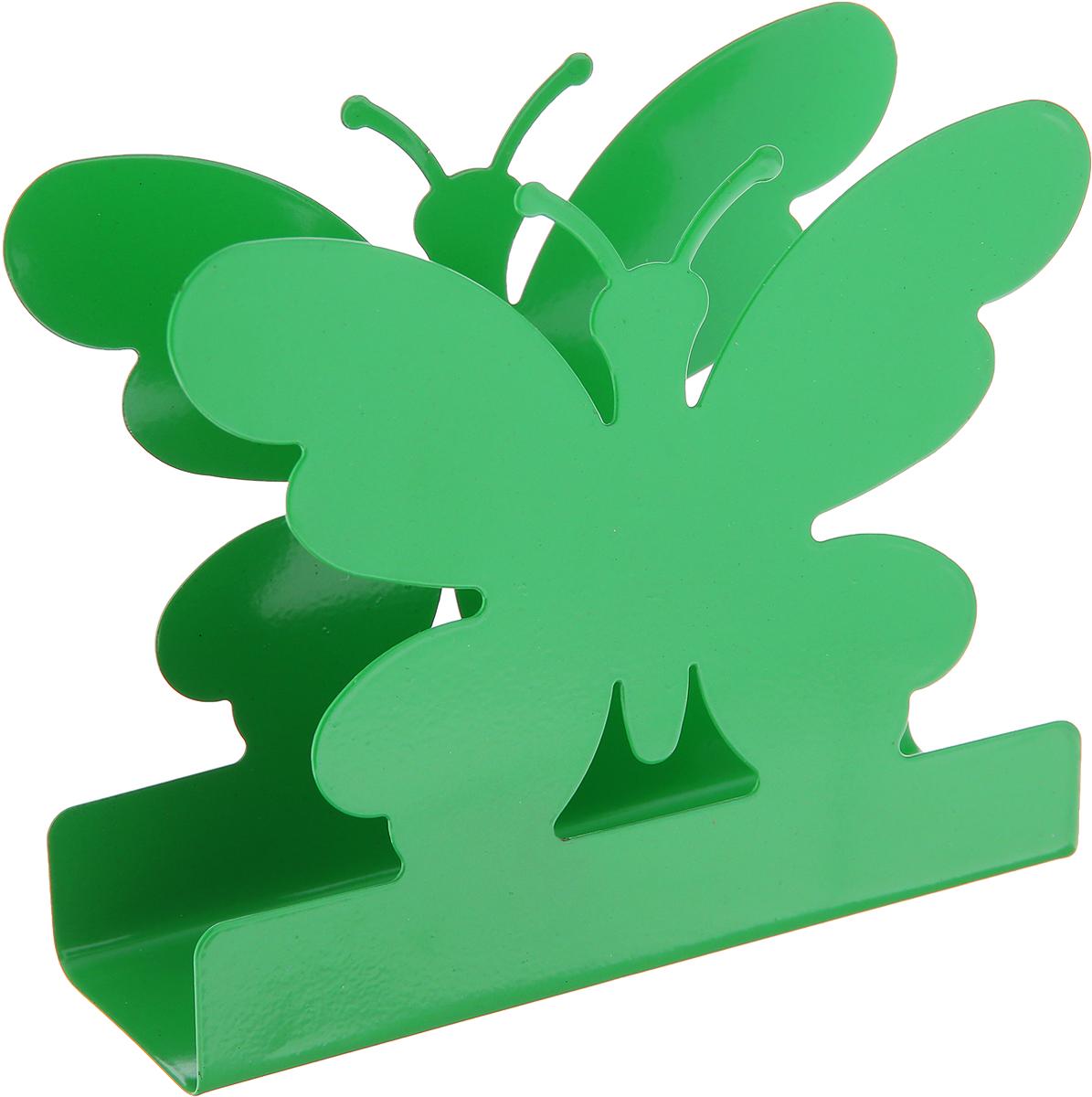 Салфетница МФК-профит Бабочка, цвет: зеленый, 13 х 11 х 4 см стеклоочиститель для окон мфк профит цвет малиновый 22 x 19 5 x 2 см