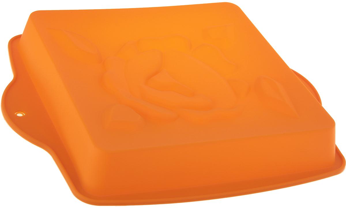 Форма для выпечки Доляна Цветущая роза, цвет: оранжевый, 28 х 24 х 3,5 см1166878_оранжевыйФорма для выпечки Доляна Цветущая роза, цвет: оранжевый, 28 х 24 х 3,5 см
