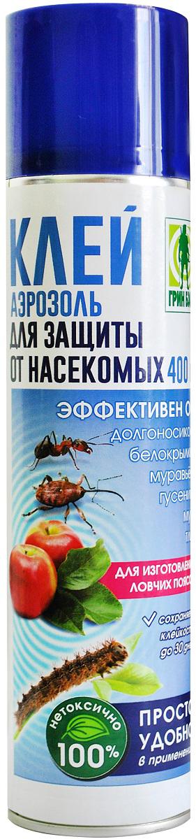 Аэрозоль Грин Бэлт Клей, для защиты от насекомых-вредителей, 400 мл01-923Для изготовления ловчих поясов на плодовых деревьях, отлова тараканов и муравьев в быту