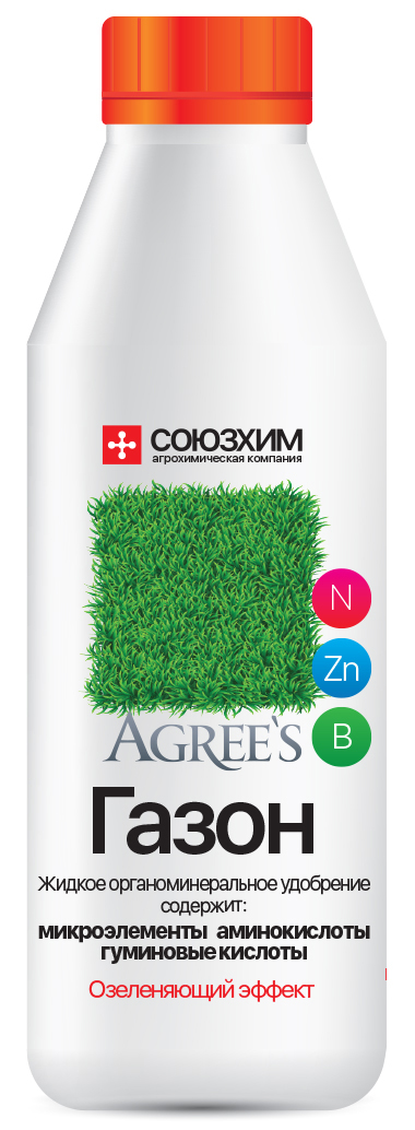 Обеспечивает интенсивную ярко-зеленую окраску газона. Повышает густоту травостоя, препятствуя распространению мха и сорных растений. Обеспечивает хорошую перезимовку растений и высокую сохранность газона. Технология по применению: (полив) 2 колпачка (40 мл) на 10 л воды, (опрыскивание) 1 колпачок (20 мл) на 10 л воды, использовать на площади 10м2. Поливайте растения готовым раствором 1 раз в 2 недели. Содержание: Азот - 41%, Комплекс аминоксилот - 0,1 % , с добавкой микроэлементов (Цинк, Медь, Марганец, Бор, Сера, Магний, Железо, Молибден, Кобальт, Селен, Кислоты гуминовые).