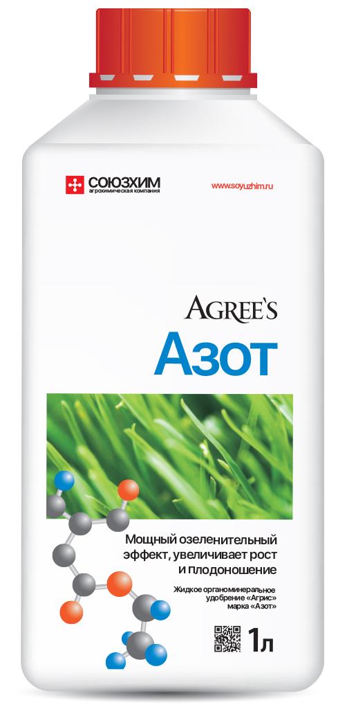 Удобрение минеральное Agrees Азот, 1 л203006Мощный озеленительный эффект, увеличивает рост и плодоношение. Жидкое удобрение с высоким содержанием азота, обогащенное полным комплексом макро- и микроэлементов в легкоусвояемой форме. Технология по применению: (полив) 2 колпачка (40 мл) на 10 л воды, (опрыскивание) 1 колпачок (20 мл) на 10 л воды, использовать на площади 10м2 Поливайте растения готовым раствором 1 раз в 2 недели. Содержание: Азот - 41%, Комплекс аминоксилот - 0,1 % , с добавкой микроэлементов (Цинк, Медь, Марганец, Бор, Сера, Магний, Железо, Молибден, Кобальт, Селен, Кислоты гуминовые).
